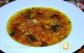 Экстрим-суп из репы и кольраби с телятиной