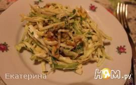 Салат с тыквой, капустой и богарским перцем