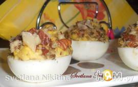 Яйца фаршированные с грибами