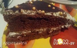 Шоколадно-банановый торт на кислом молоке