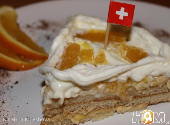 Торт за 5 минут *Швейцарский апельсин*