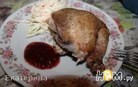 Курица на соли
