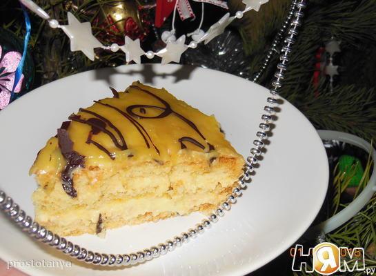 Рецепт Шифоновый бисквит со сливочно-лимонным кремом