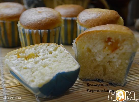 Рецепт Кексы с творожной начинкой и апельсиновым джемом