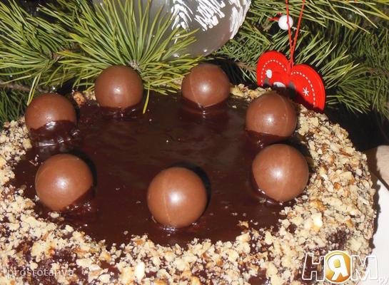 """Рецепт Торт """"Чернослив в шоколаде"""""""
