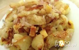Жареный картофель с айвой