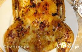 Курица, фаршированная грибами, сыром и зеленью