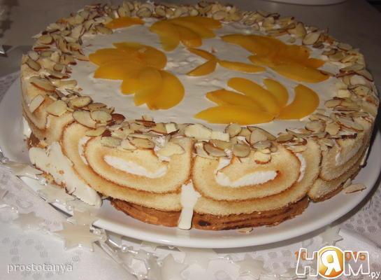 """Творожно-сметанный торт """"Нежность"""""""
