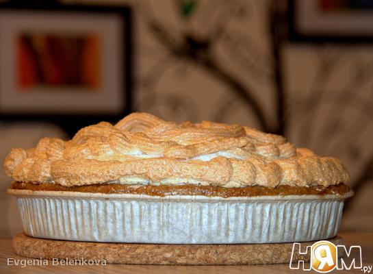 Рецепт Овсяный пирог с вишней и безе
