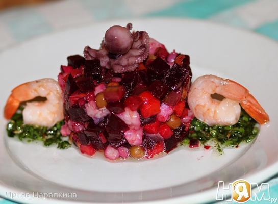 Винегрет с морепродуктами