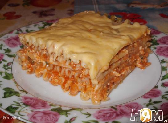 Рецепт Лазанья с куриным фаршем