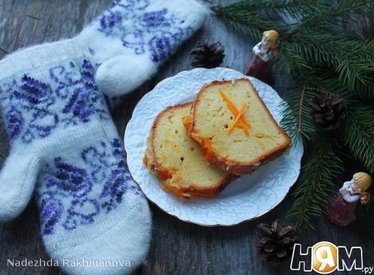 Рецепт Апельсиновый кекс с пропиткой
