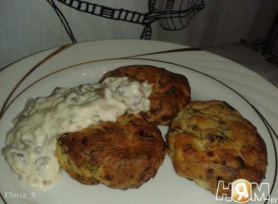 Рецепт Картофельные биточки с вешенками