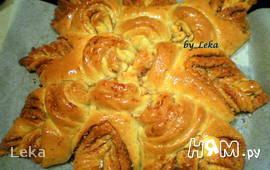 """Пирог с корицей и орехами  """"Цветок удовольствия"""""""
