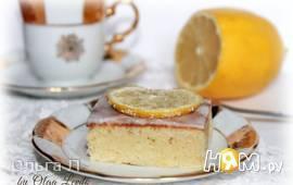 Пирожное с лимоном и белым шоколадом