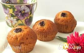 Медово-имбирные кексы с вишней