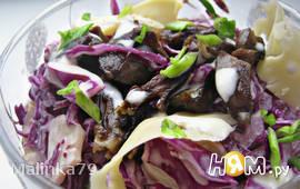 Салат из краснокачанной капусты с сердечками