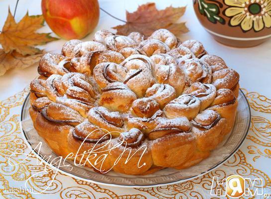 """Яблочный пирог """"Хризантема"""""""