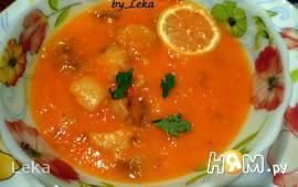 Томатный суп - пюре с костным мозгом
