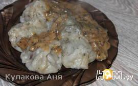 Сливочный соус с белыми грибами