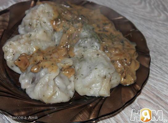 Рецепт Сливочный соус с белыми грибами