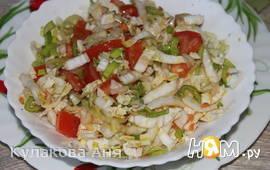 """Салат """"Очень легкий"""" овощной"""