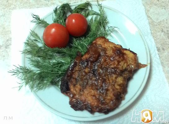 Рецепт Горбуша под томатной шубкой в духовке