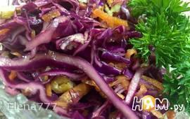 Салат из краснокочанной капусты с орехами