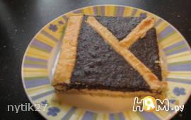 Маково-творожный торт во весь притивень
