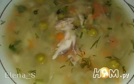Суп-толченка с горошком и квашеной капустой