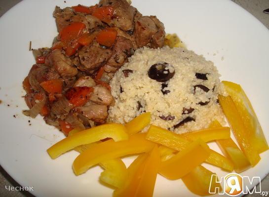 Рецепт Свинина, тушеная с морковью и луком