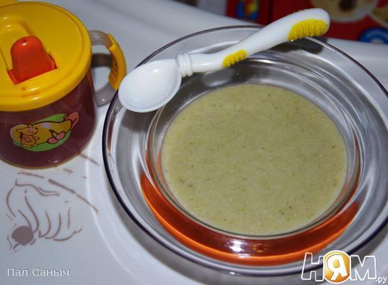 Рецепт Детский куриный суп-пюре для 10 месяцев
