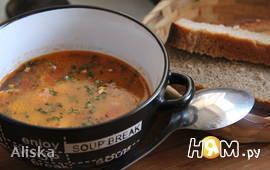 Суп из курятины и бекона