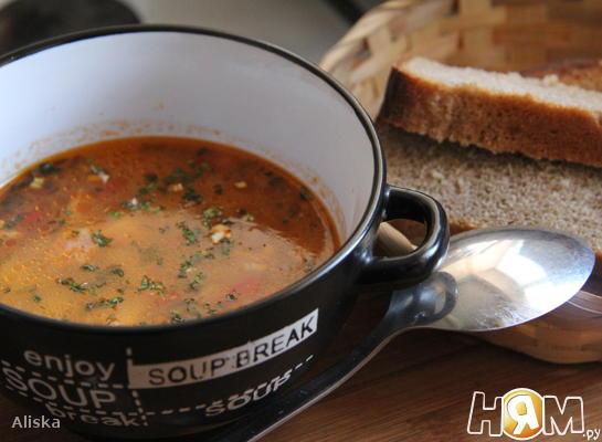 Рецепт Суп из курятины и бекона