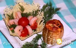 Рулетики из лосося с кремом из рикотты