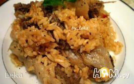 Бараньи ребрышки с рисом и квашеной капустой