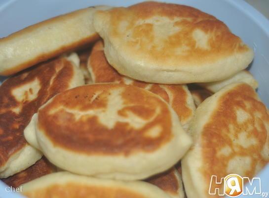 Рецепт Пирожки с ветчинной, сыром и зеленью