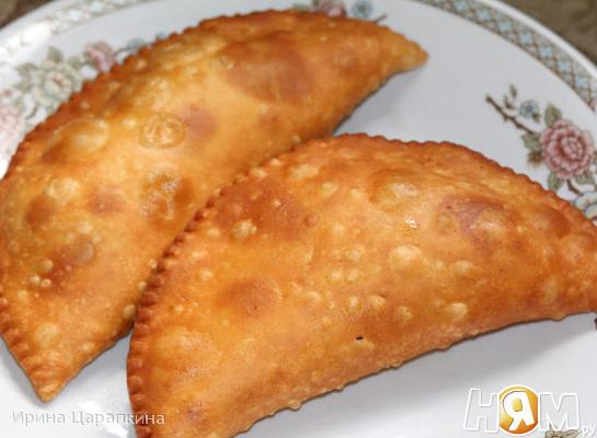 Рецепт Чебуреки домашние на заварном тесте с бараниной