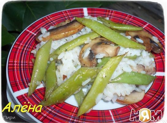 Рецепт Рис с грибами и спаржевой фасолью