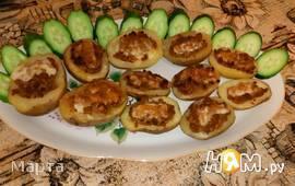 Фаршированные картофельные лодочки
