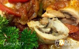 Фаршированная куриная голень по-итальянски