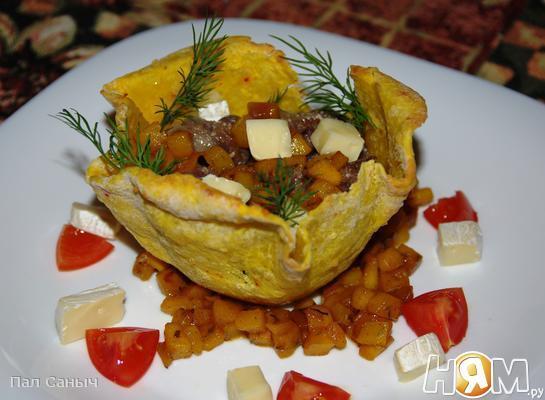 Рецепт Жульен из языка на манговом чатни