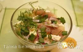 Картофельный салат с селёдкой