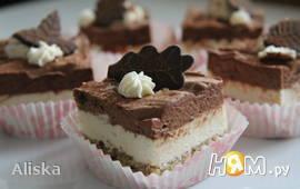 Ореховый торт с двумя муссами