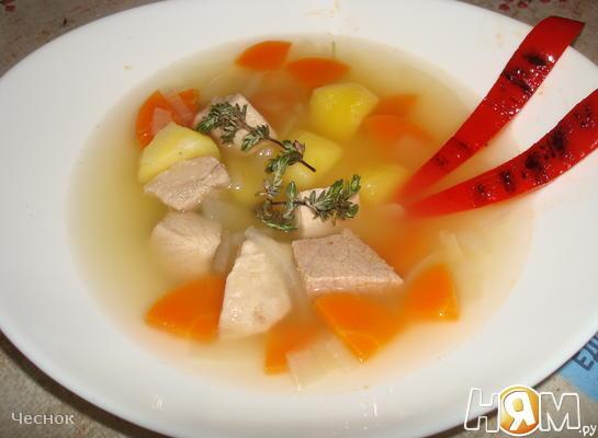 Мясной суп по-Эльзасски