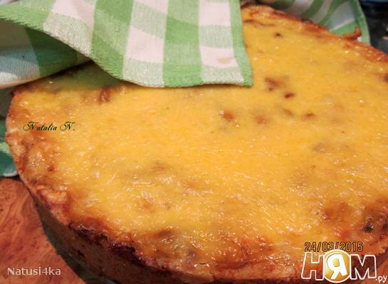 Пирог-жульен с курицей и грибами