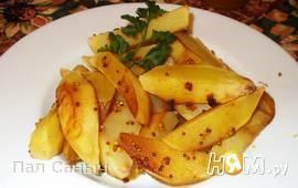 Запеченные дольки картофеля