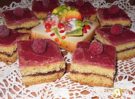 """Песочное пирожное """"Малинка"""""""
