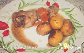 Картофель в рукаве со сливочным  маслом