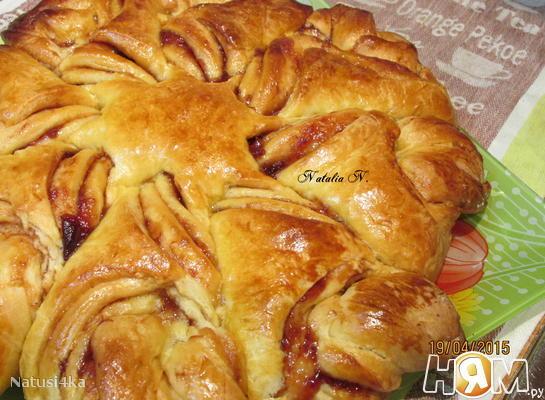 Рецепт Пирог-цветок с джемом